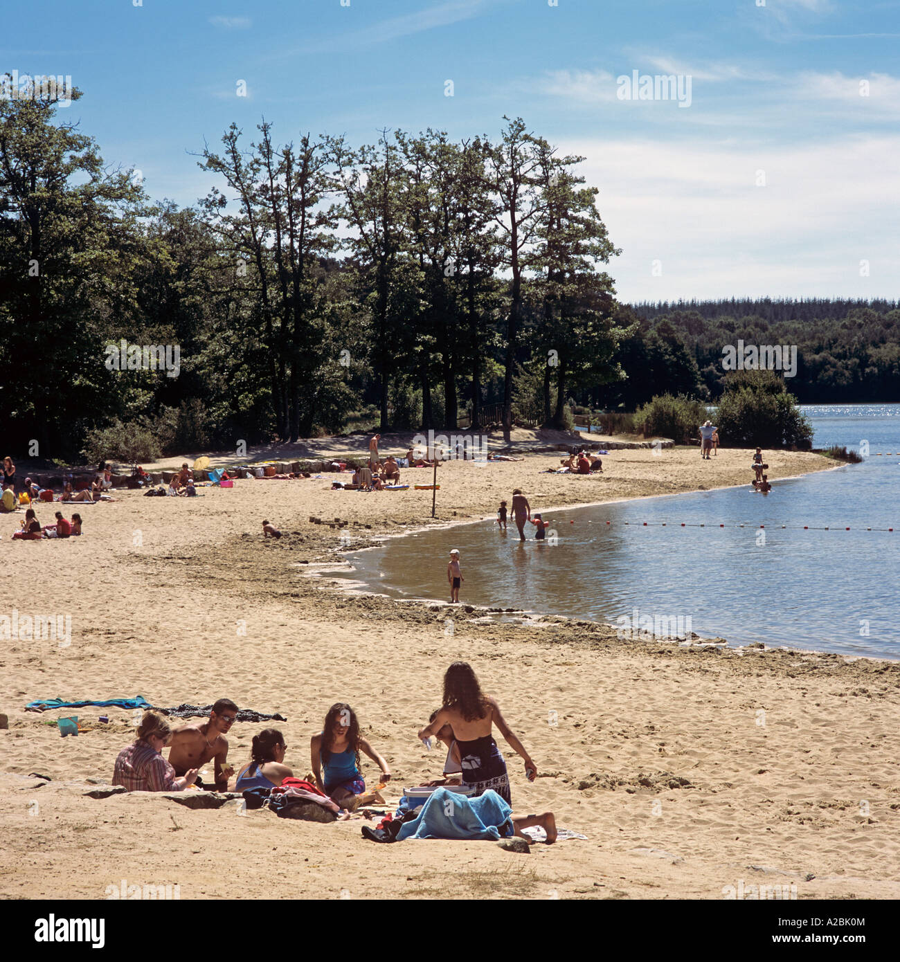 beach at the etang du defais near sille le guillaume in the stock photo royalty free image. Black Bedroom Furniture Sets. Home Design Ideas
