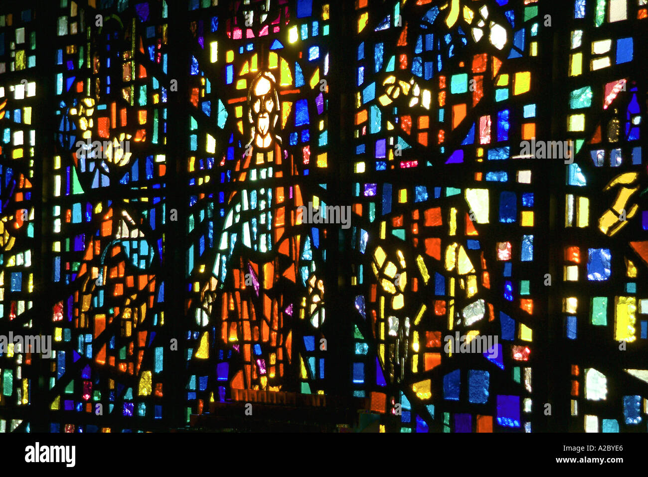 Roman Catholic Church Stained Glass Window Depicting Jesus Christ