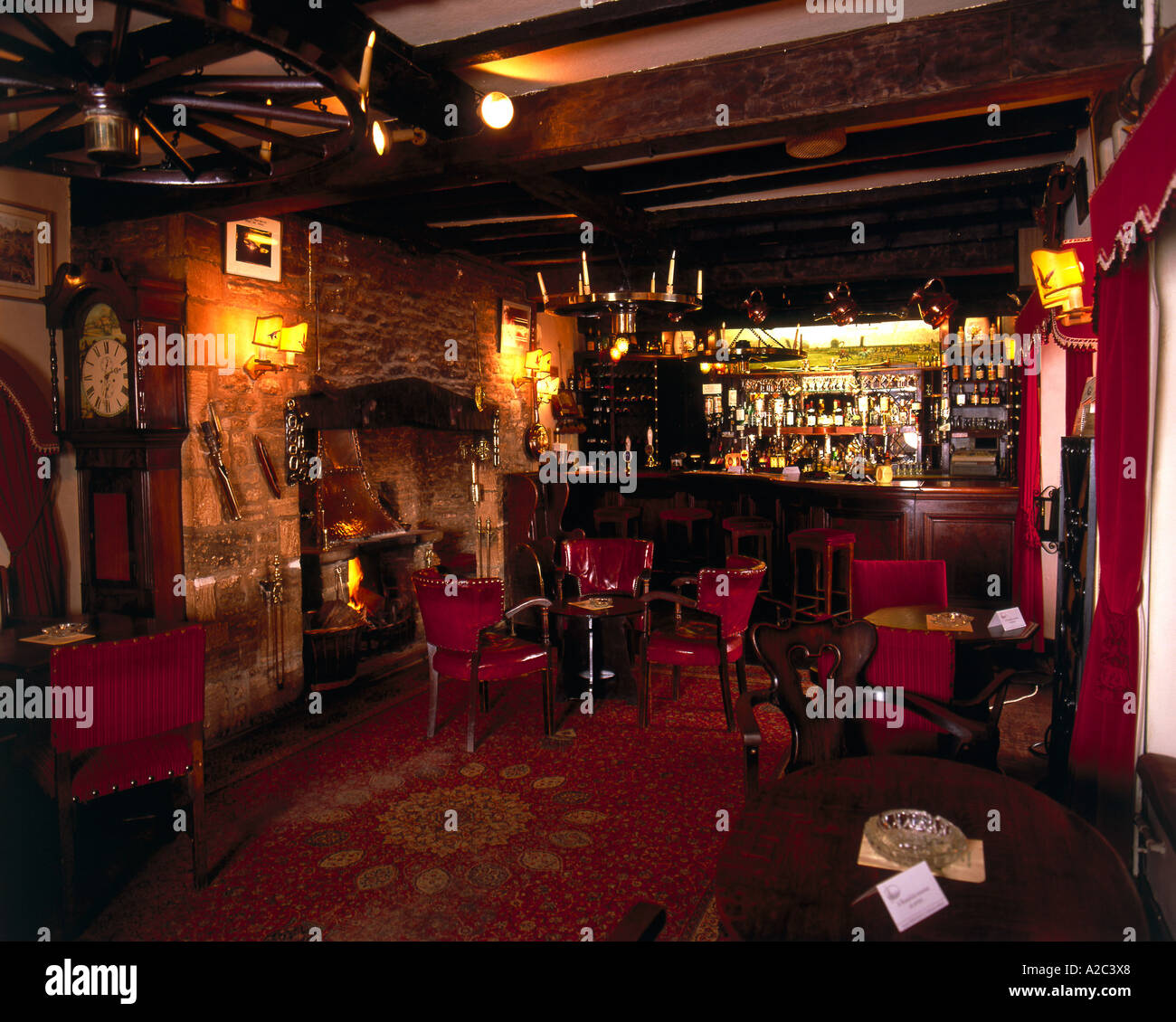 Interior of traditional old english pub stock photo for English house music