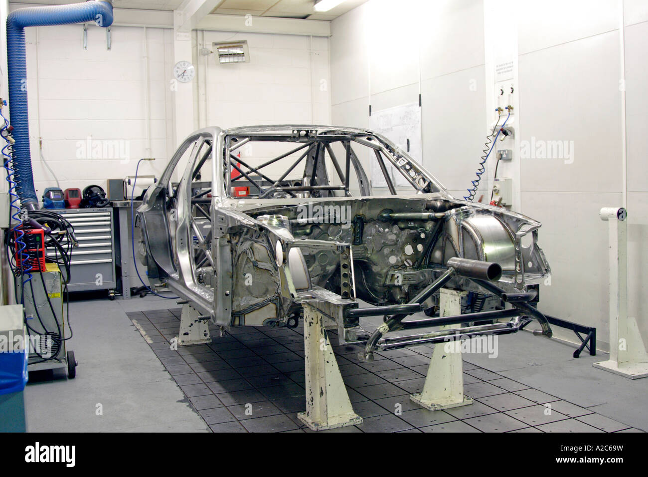 Subaru Impreza Group N Rally Car Being Prepared At