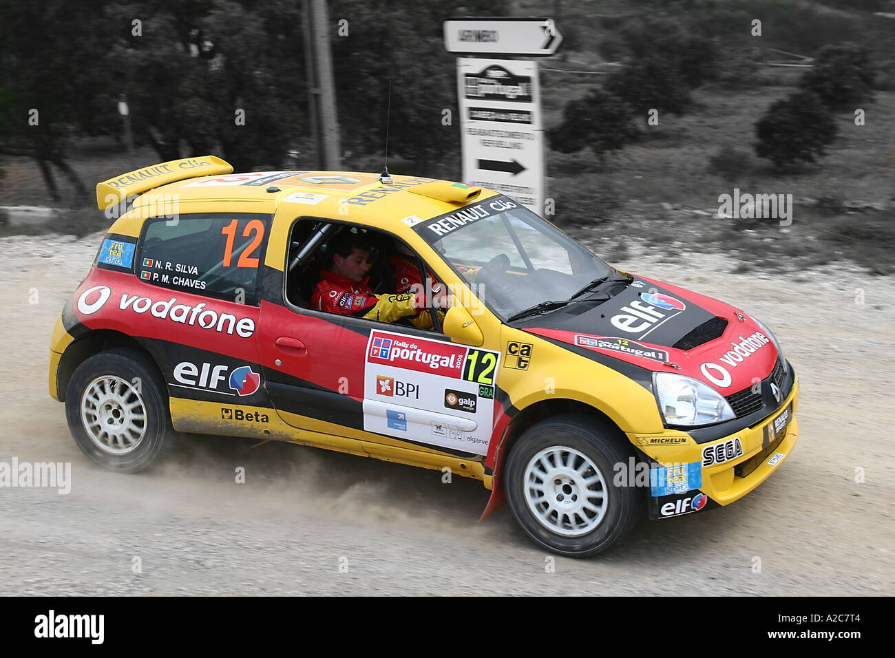Renault Clio Rally Car Stock Photo Royalty Free Image