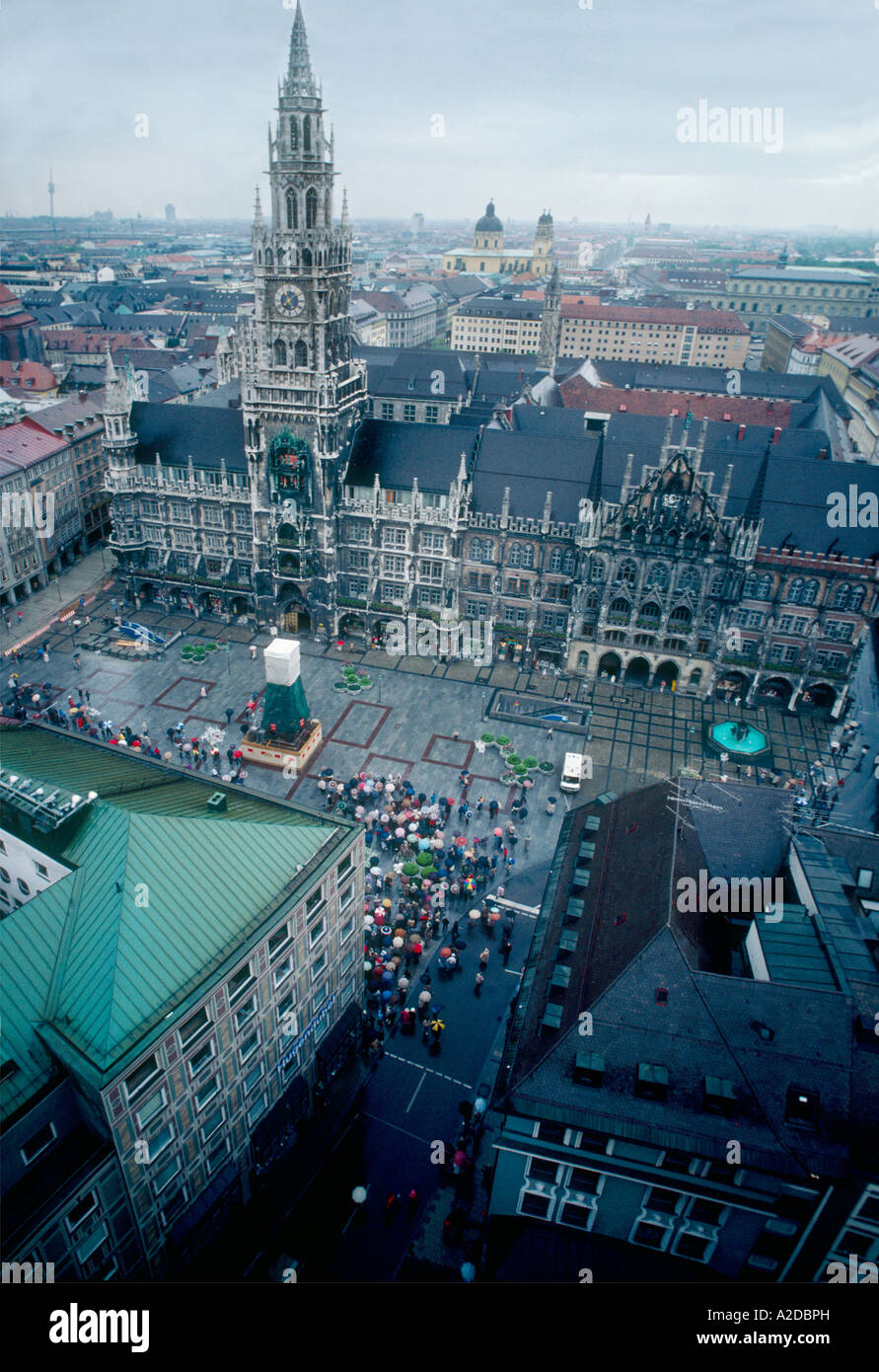 Birds Eye View Of The Glockenspiel Clock Tower And