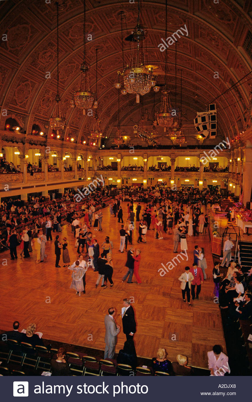 ballroom dancing at the winter gardens ballroom blackpool stock