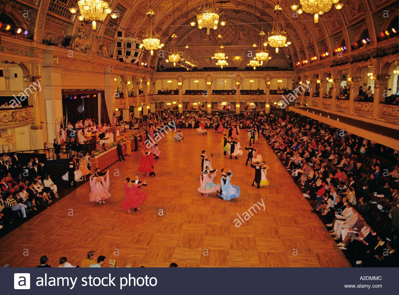 ballroom dancing competition the winter gardens blackpool stock