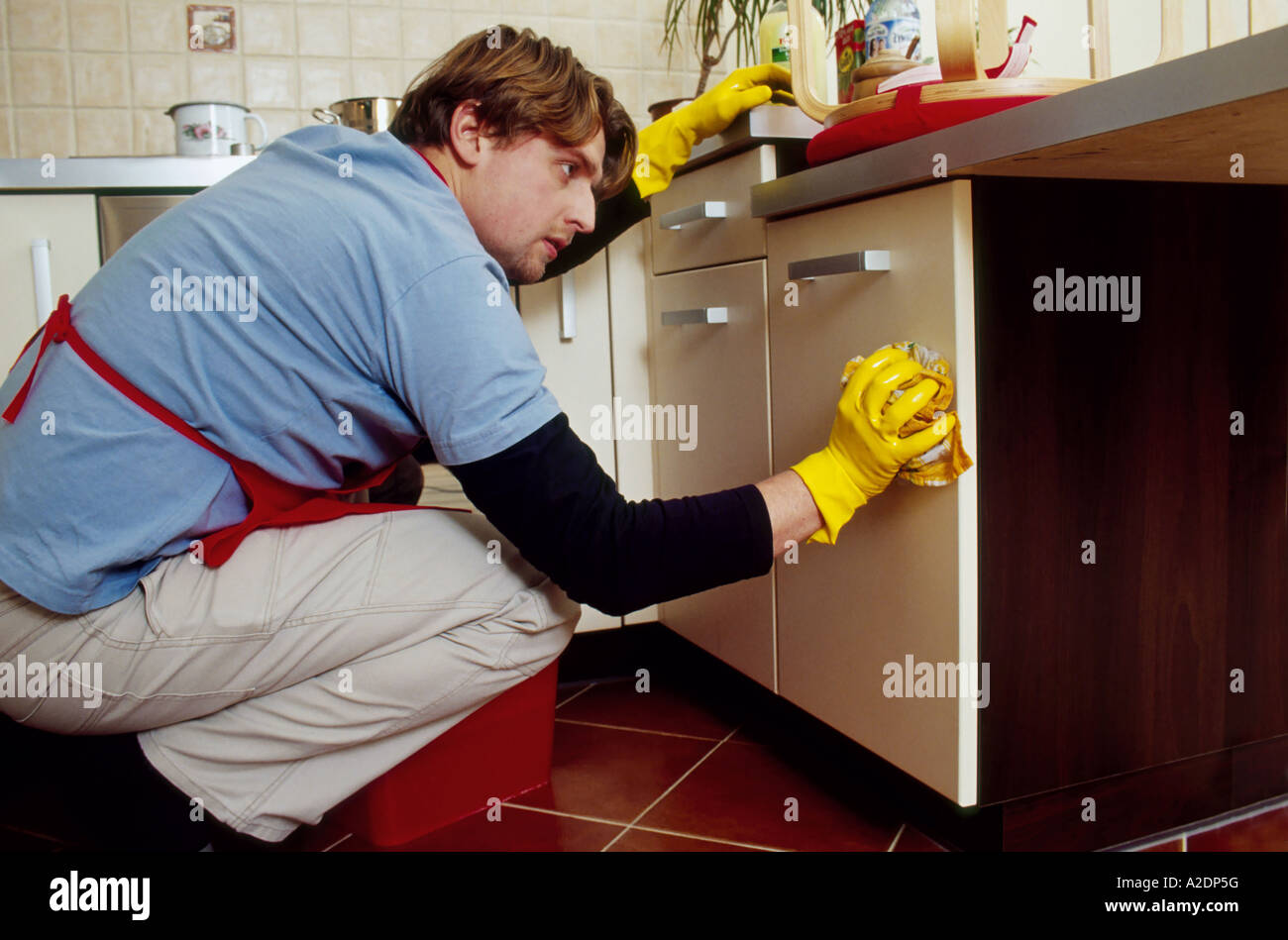 Mature kitchen floor