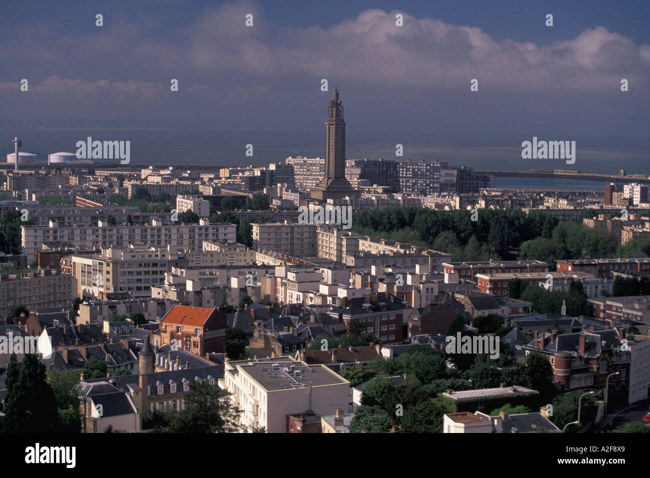 eu france normandy calvados le havre center city view rue stock photo 6003112 alamy. Black Bedroom Furniture Sets. Home Design Ideas