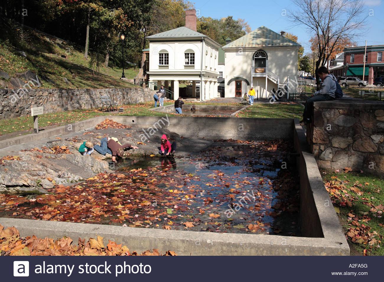 berkeley springs state park, berkeley springs, west virginia stock