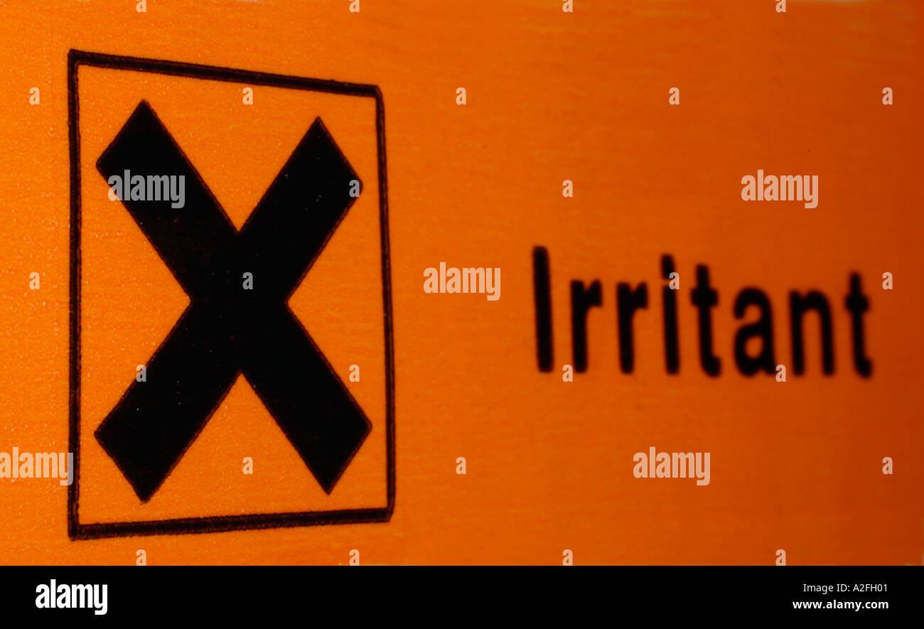 Safety label showing symbol for irritant chemicals stock photo safety label showing symbol for irritant chemicals biocorpaavc Gallery