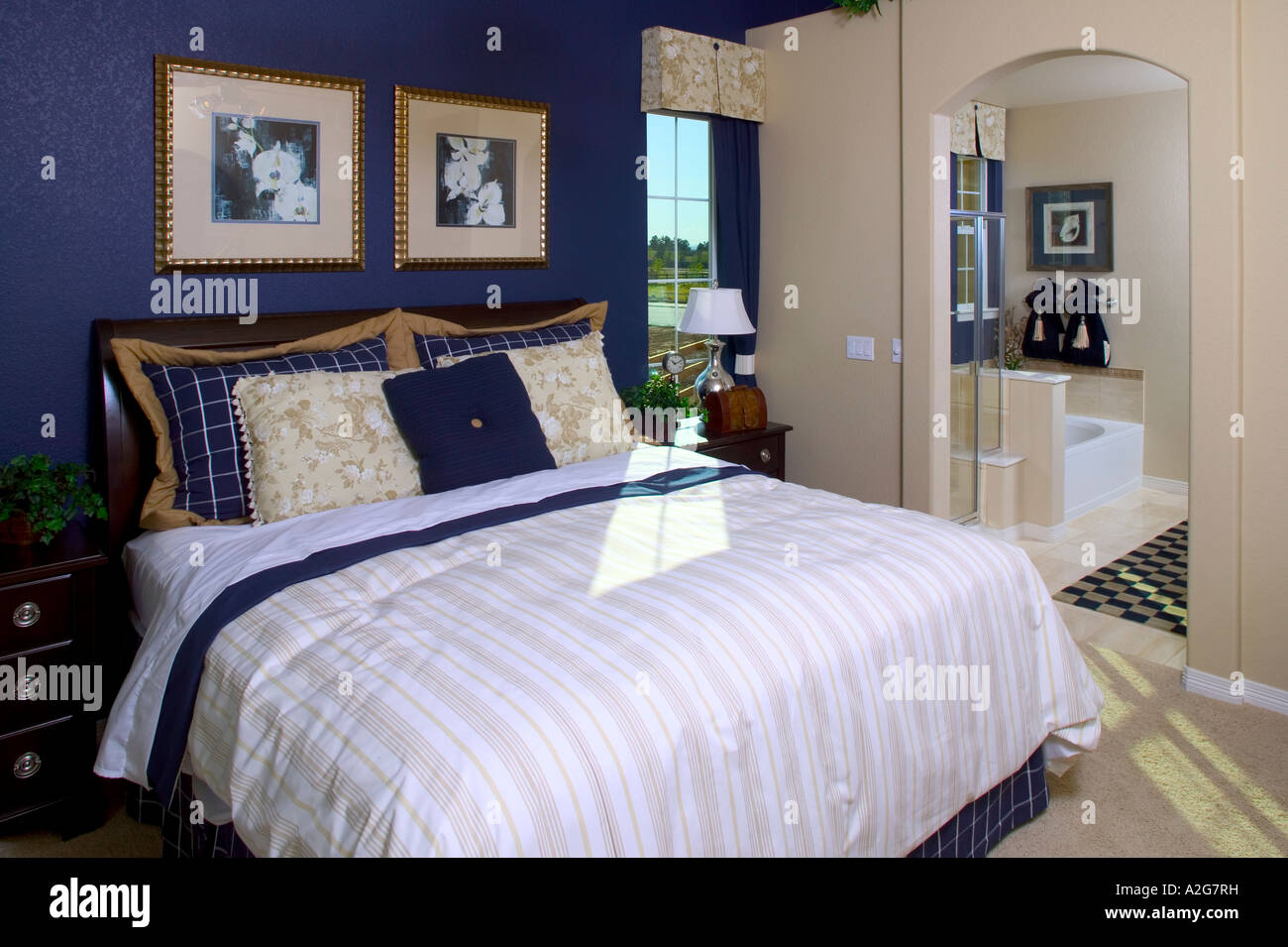 Middle class home interior master bedroom denver colorado for Home master