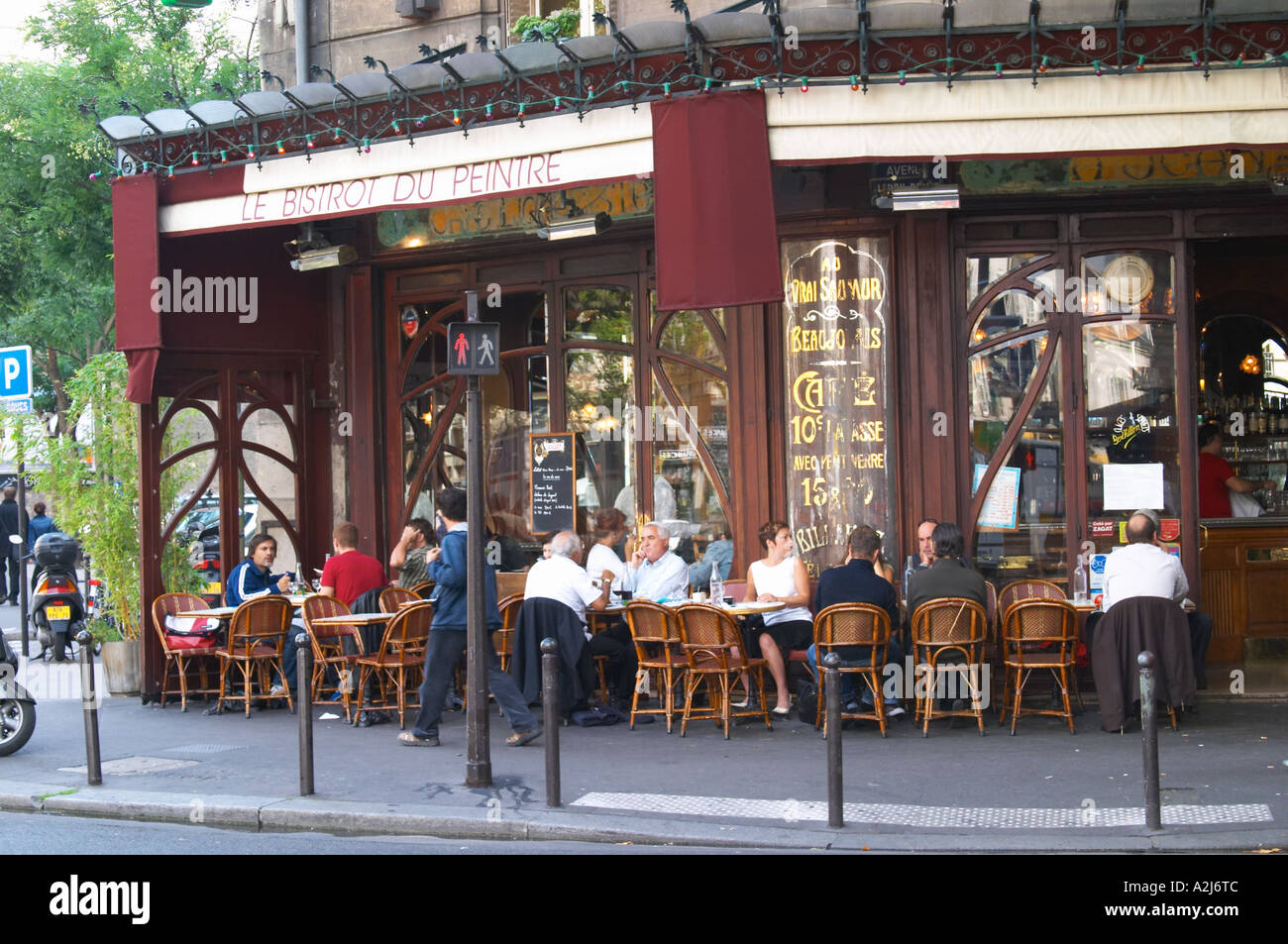 le bistrot du peintre cafe bar terrasse terasse outside seating on stock photo royalty free. Black Bedroom Furniture Sets. Home Design Ideas