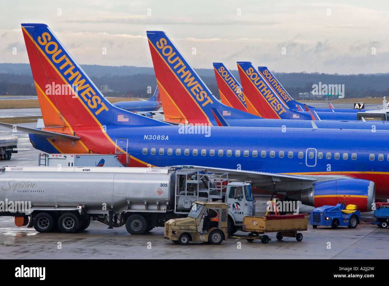 Southwest airlines stock photos southwest airlines stock images baltimore maryland southwest airlines planes on the ground at baltimore washington international airport stock image buycottarizona