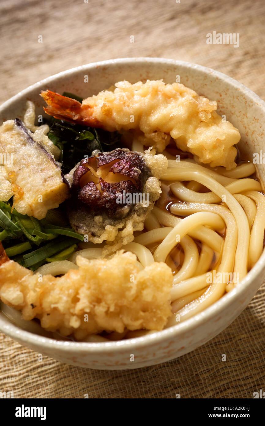 Japanese tempura udon