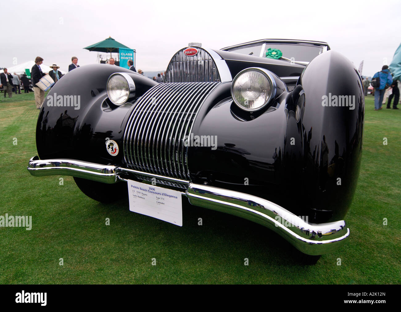 bugatti 57c voll ruhrbeck cabriolet 1939 pebble beach stock photo royalty free image. Black Bedroom Furniture Sets. Home Design Ideas