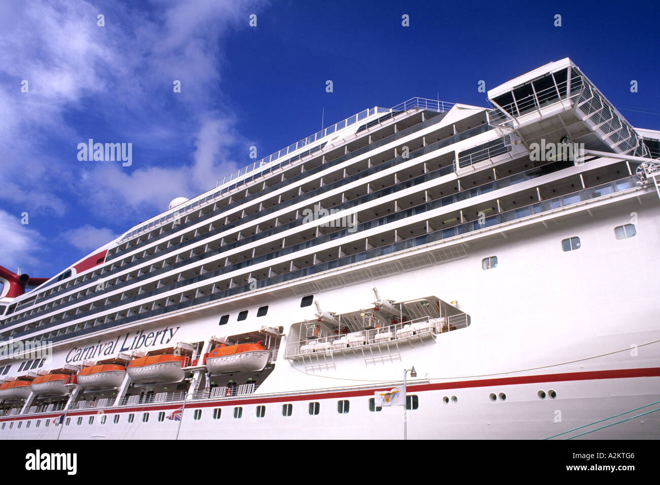 Carnival Liberty Cruise Ship In The Caribbean Side View Of Decks - Pictures of carnival liberty cruise ship