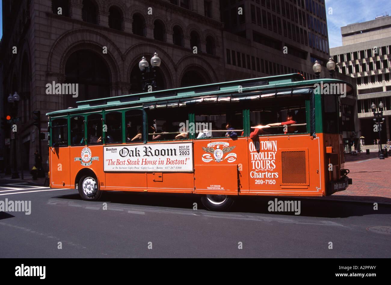 Old Town Trolley Tour Bus Boston Massachusetts New England USA