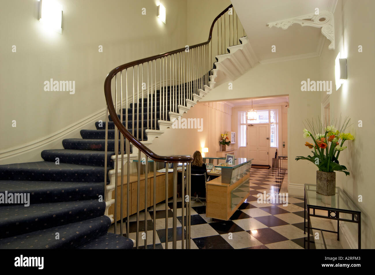 Office Reception With Georgian Staircase In Mayfair London