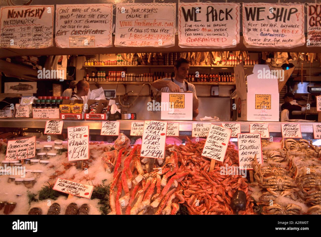 Pike place market seattle washington state usa fresh for Fish market seattle washington