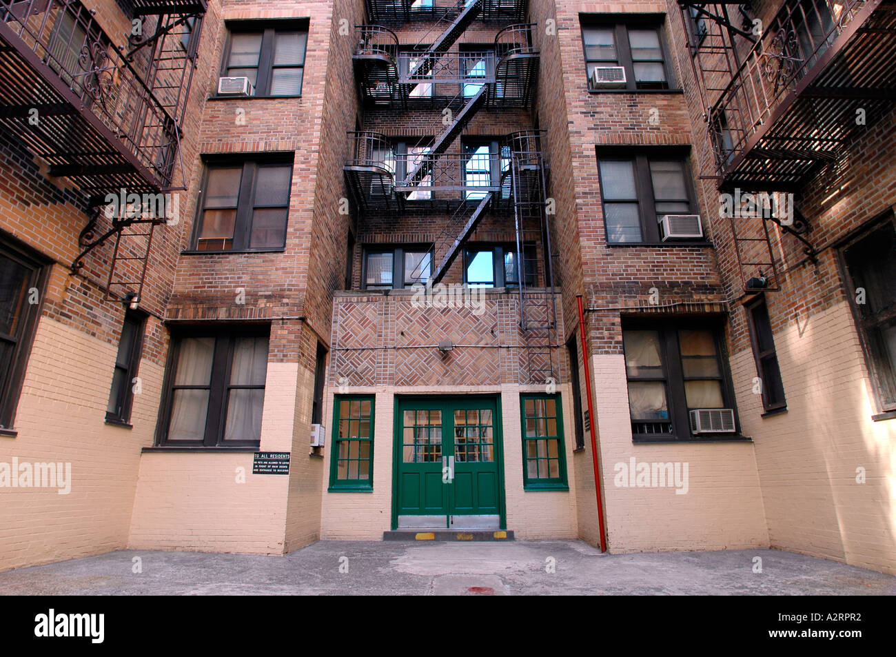 City Apartment Building Entrance entrance to a new york city apartment bulding stock photo, royalty