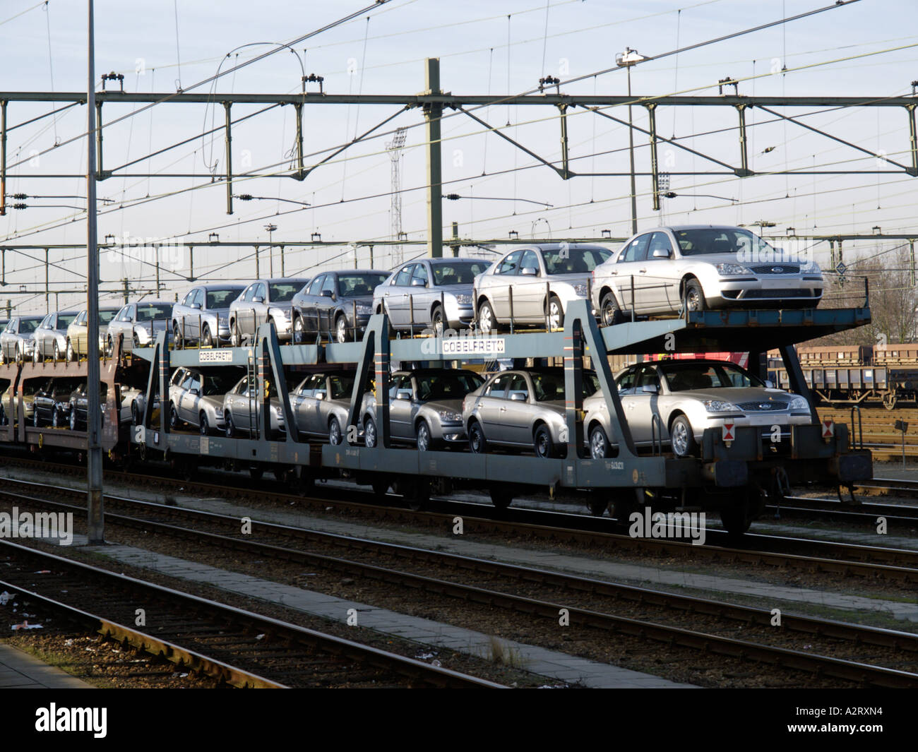 Freight train loaded with brand new Ford Mondeo cars photographed in Roosendaal the Netherlands at the & Freight train loaded with brand new Ford Mondeo cars photographed ... markmcfarlin.com