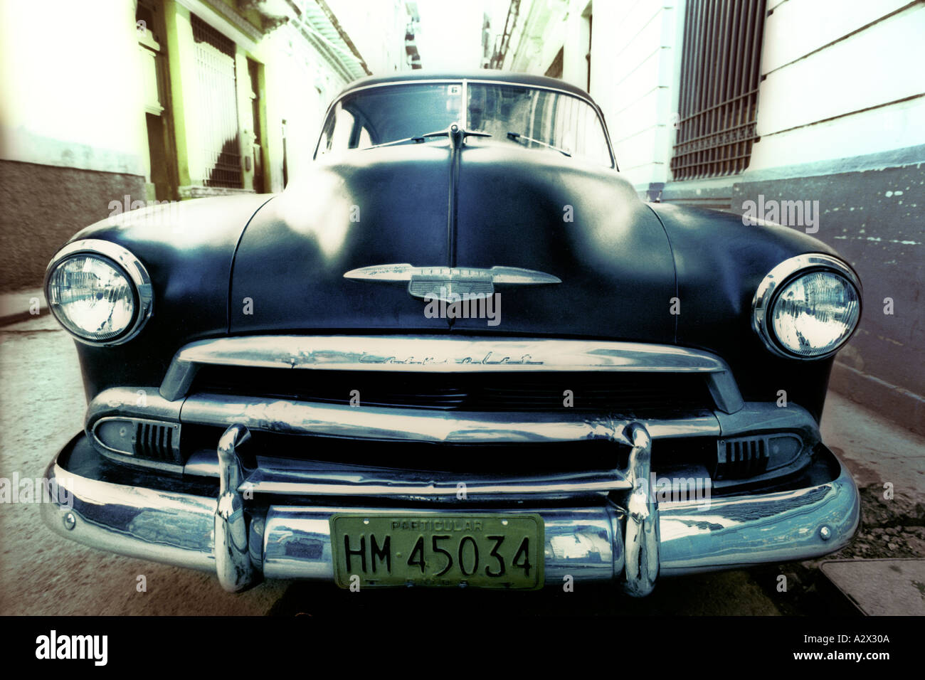 Old 50s Chevrolet car in Havana Cuba Stock Photo: 1975049 - Alamy