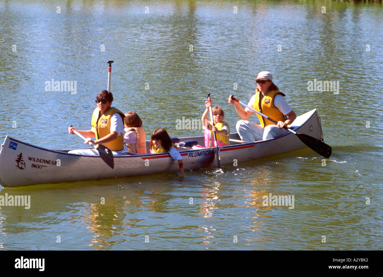 Moms Taking Kids Canoeing Loring Park Pond Age 25 And 5 Ben Jerrys One World Heart Festival Minneapolis Minnesota USA