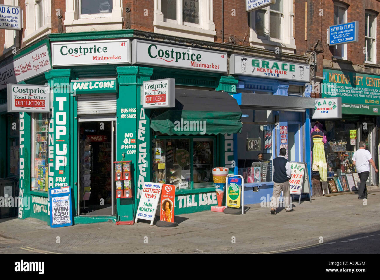 Hair Style Shop : Stock Photo - Costprice corner shop and gents hair style shop in Brick ...