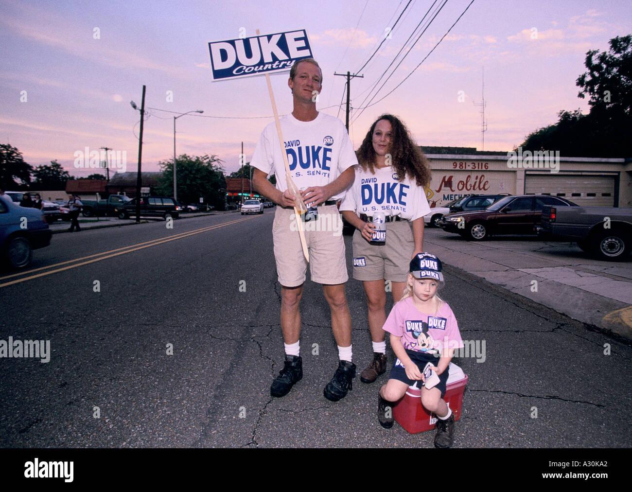 Dukes roller shoes - David Duke Supporters Lafayette Louisiana 1995 Stock Image