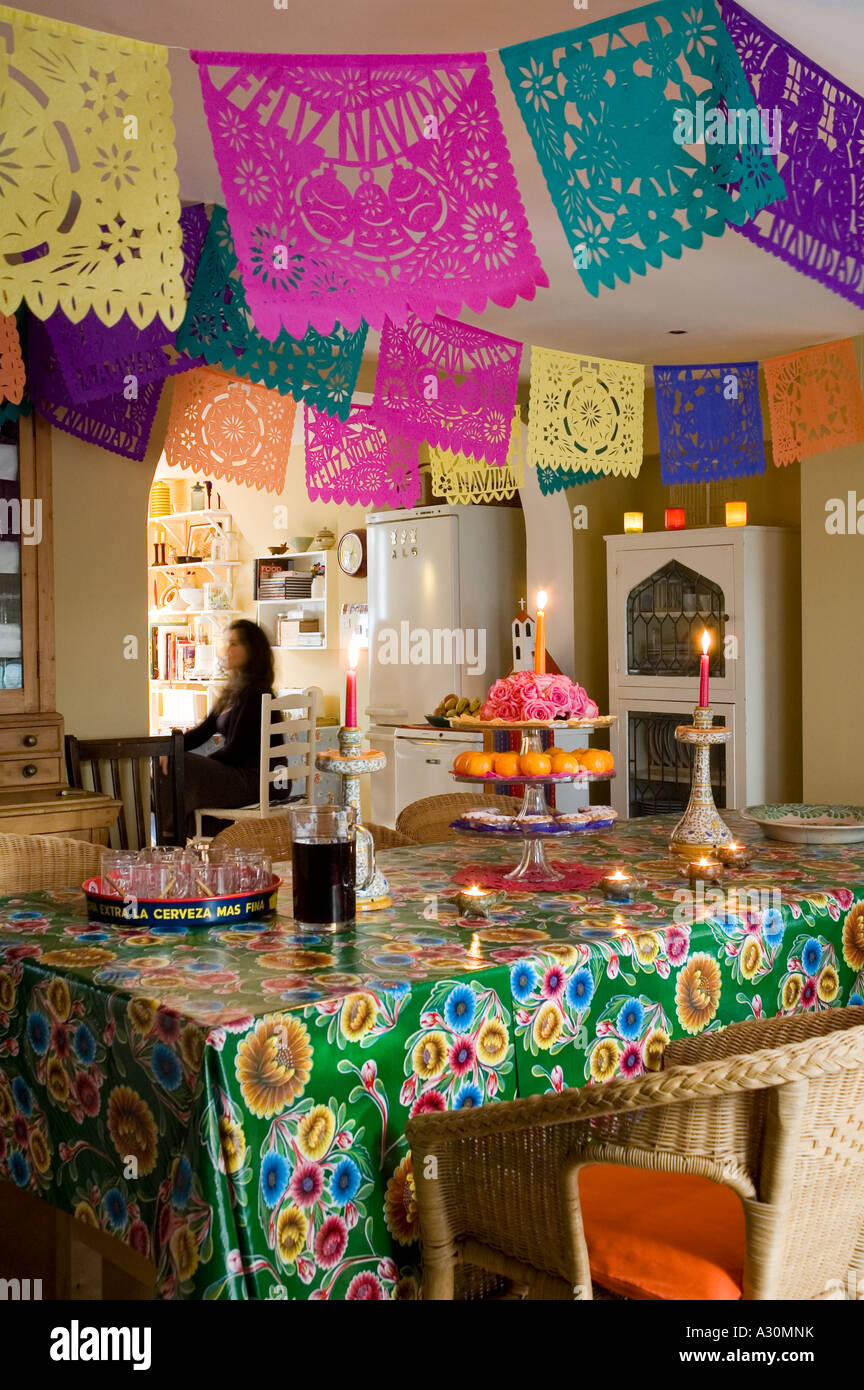 Mexican Christmas Party Ideas Part - 25: Mexican Christmas Decorations In Kitchen Of A Victorian House In London