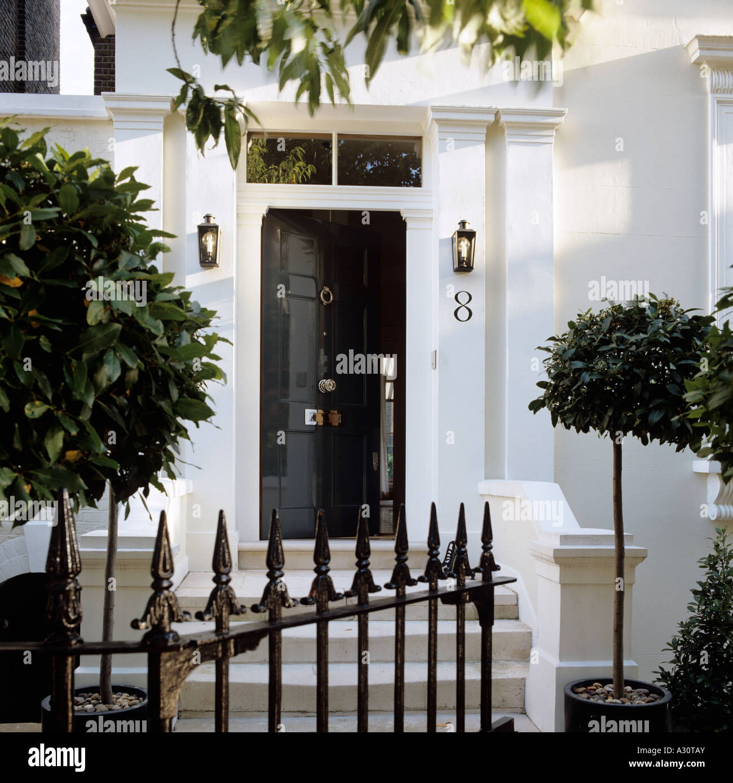 Entrance Of An Elegant Victorian London Townhouse Stock