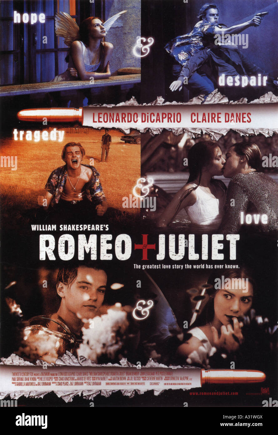 william shakespeares romeo and juliet poster for 1996 tcf