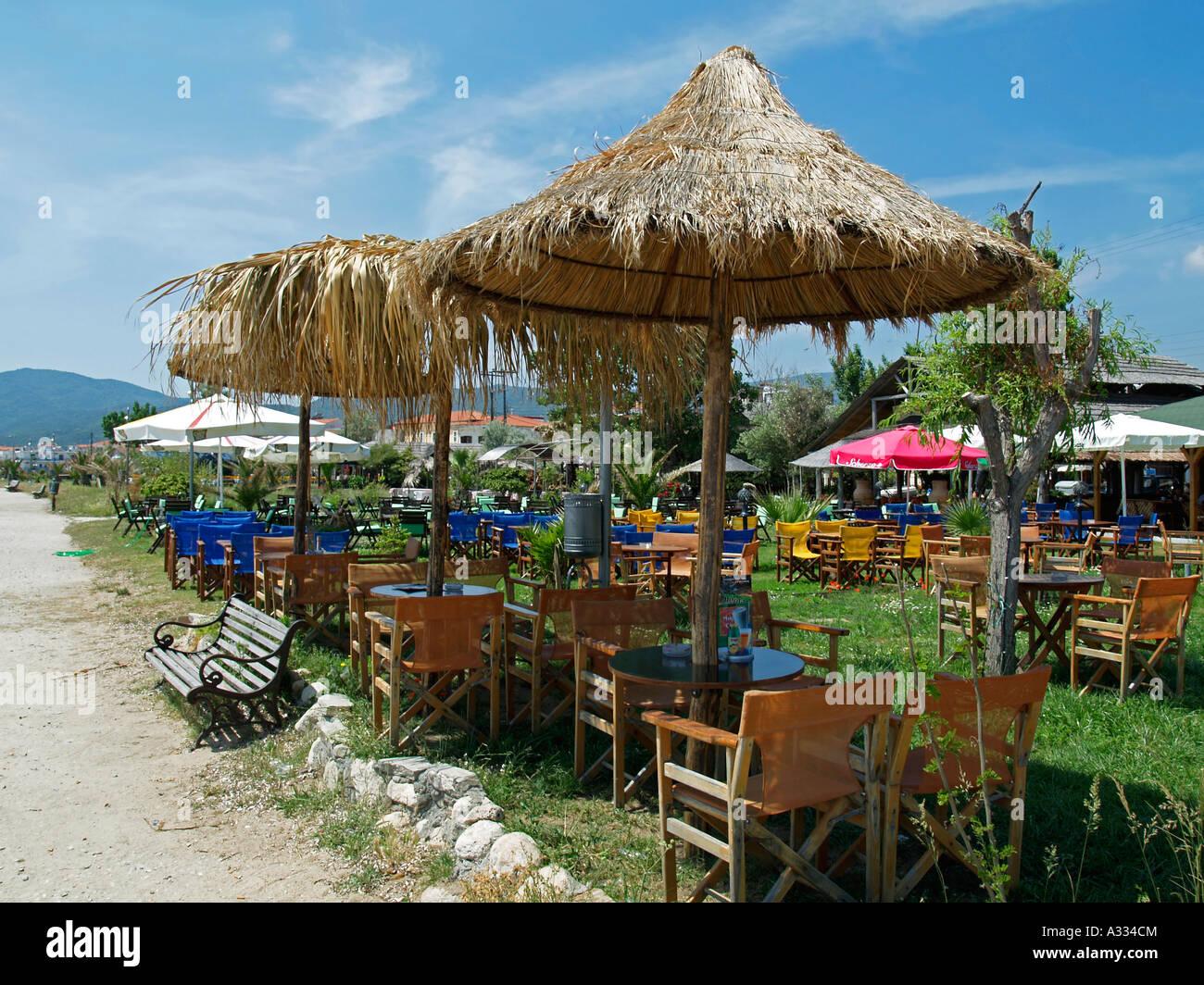 Typical greek restaurant with open air terrace beach bar for Open terrace restaurants