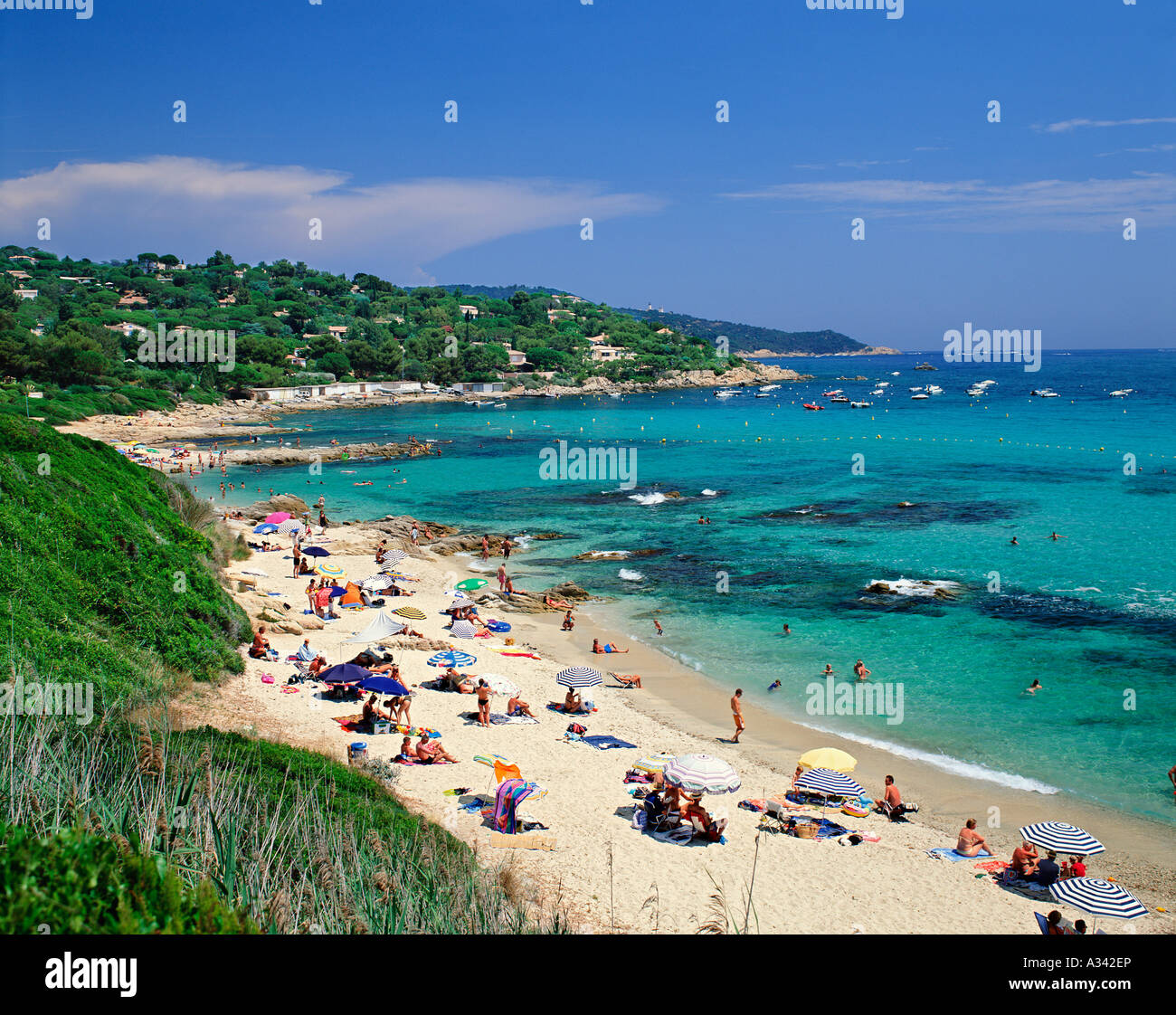 france cote d azur plage de l escalet st tropez stock photo royalty free image 10663245 alamy. Black Bedroom Furniture Sets. Home Design Ideas