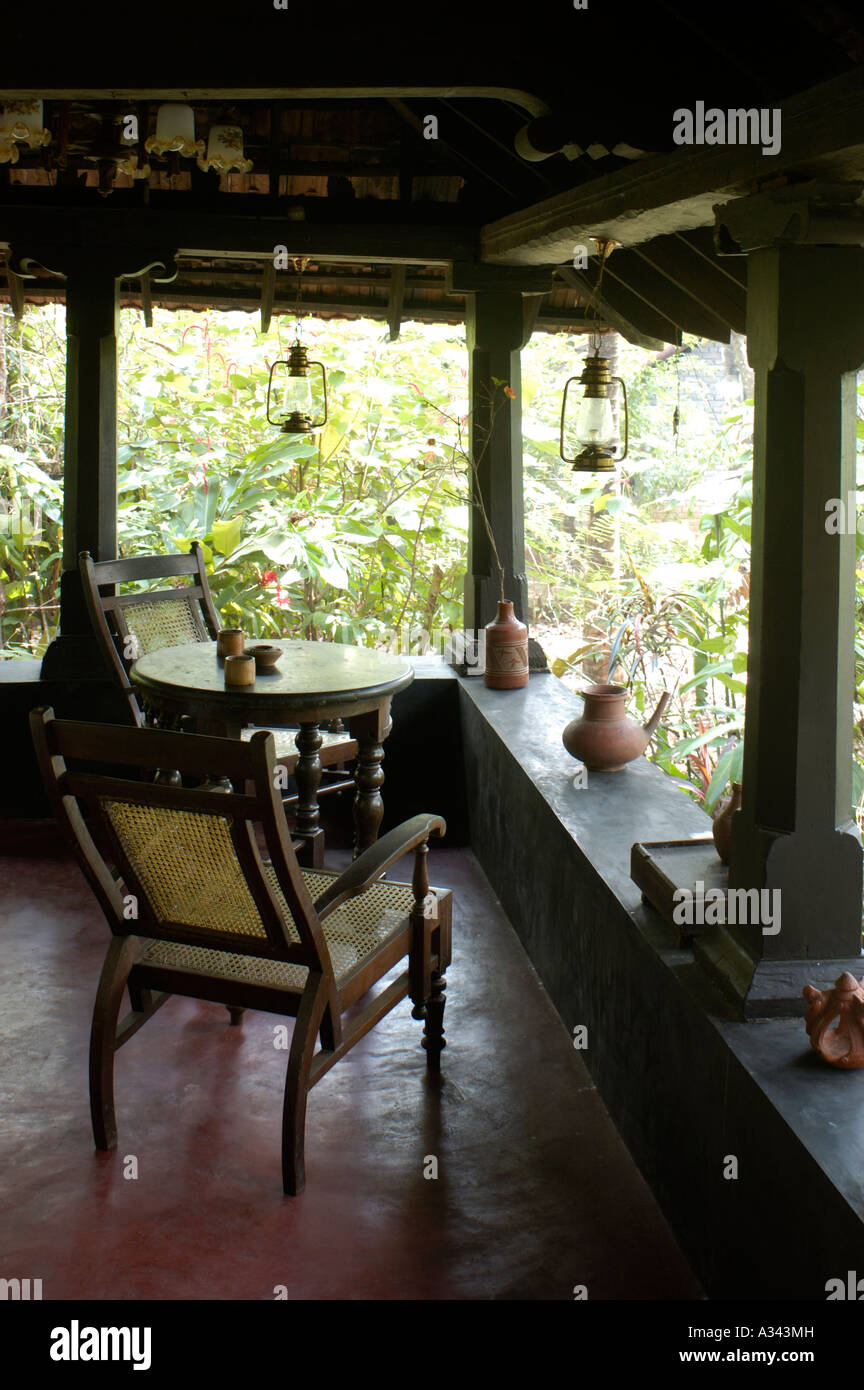 HOME STAY IN TRADITIONAL KERALA HOUSE THRISSUR   Stock Image. Kerala Chairs Stock Photos   Kerala Chairs Stock Images   Alamy