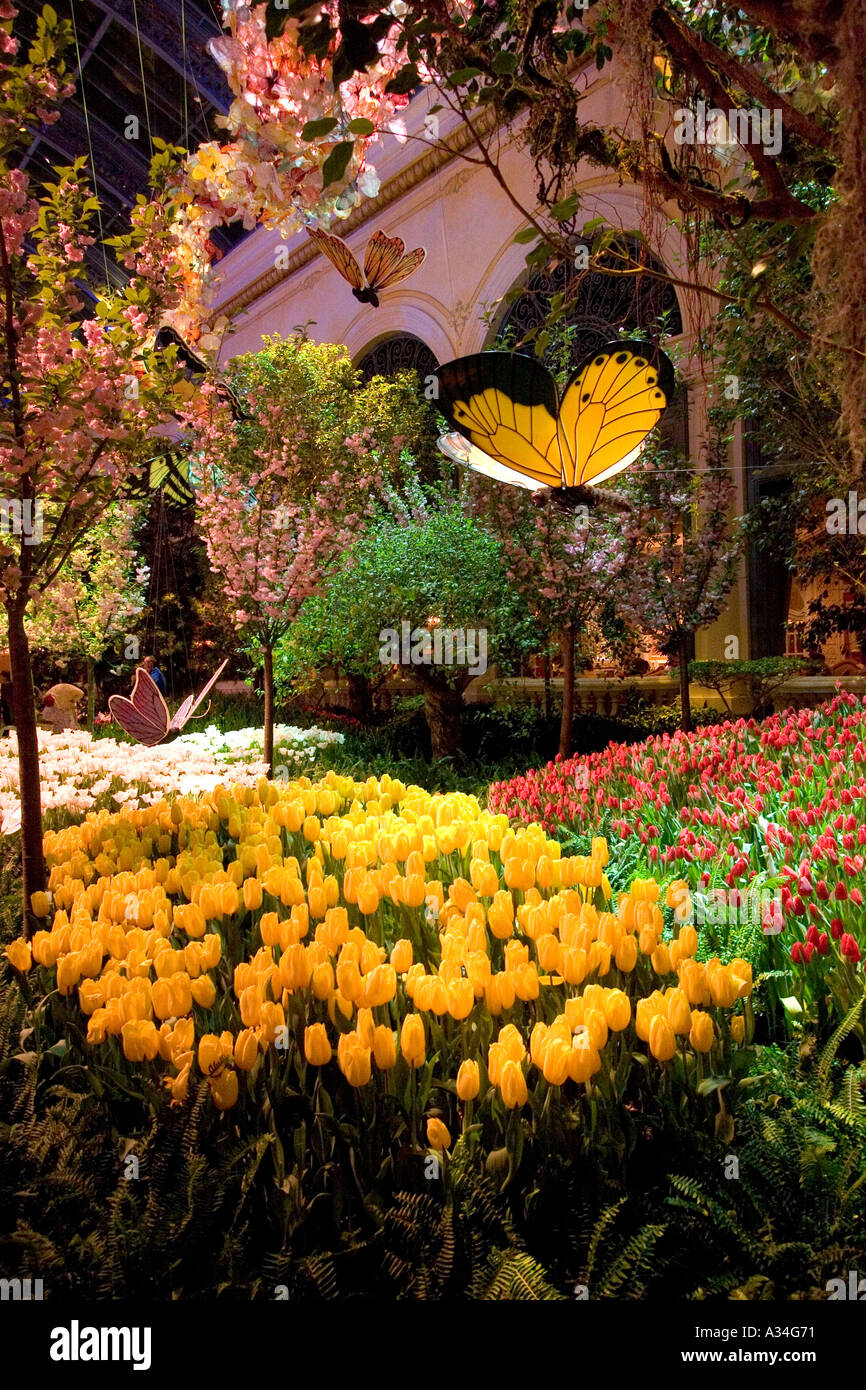 Conservatory And Botanical Gardens Inside Bellagio Hotel Las Vegas Nevada  USA