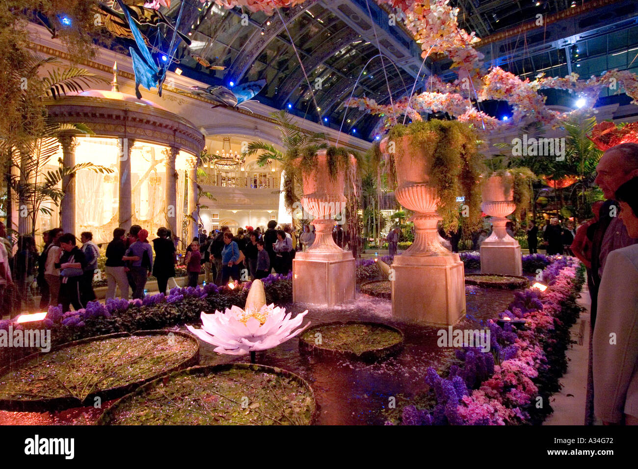 Conservatory And Botanical Gardens Inside Bellagio Hotel Las Vegas NV  Nevada USA