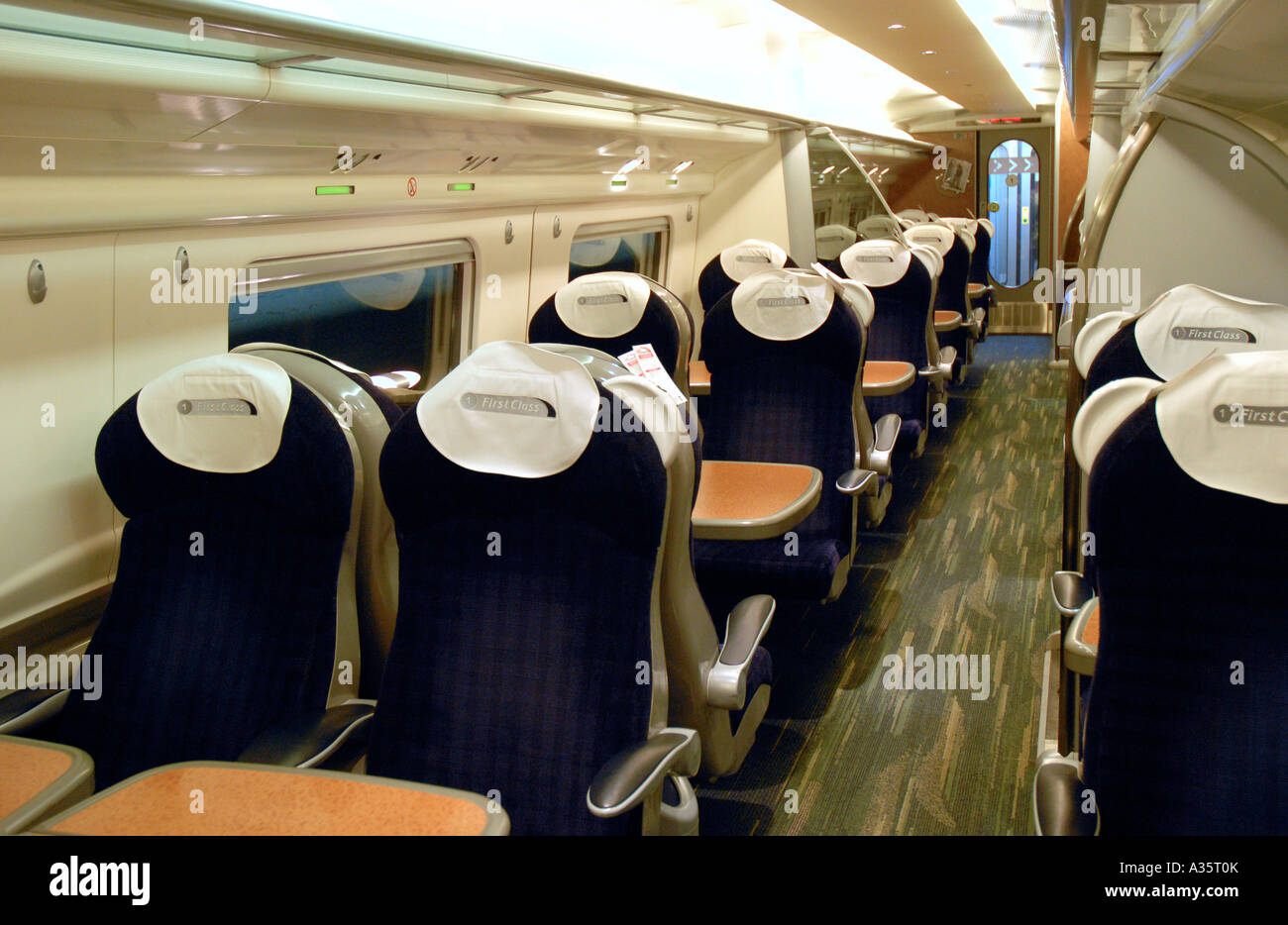 Interior Of A First Class Carriage On A Virgin Pendolino