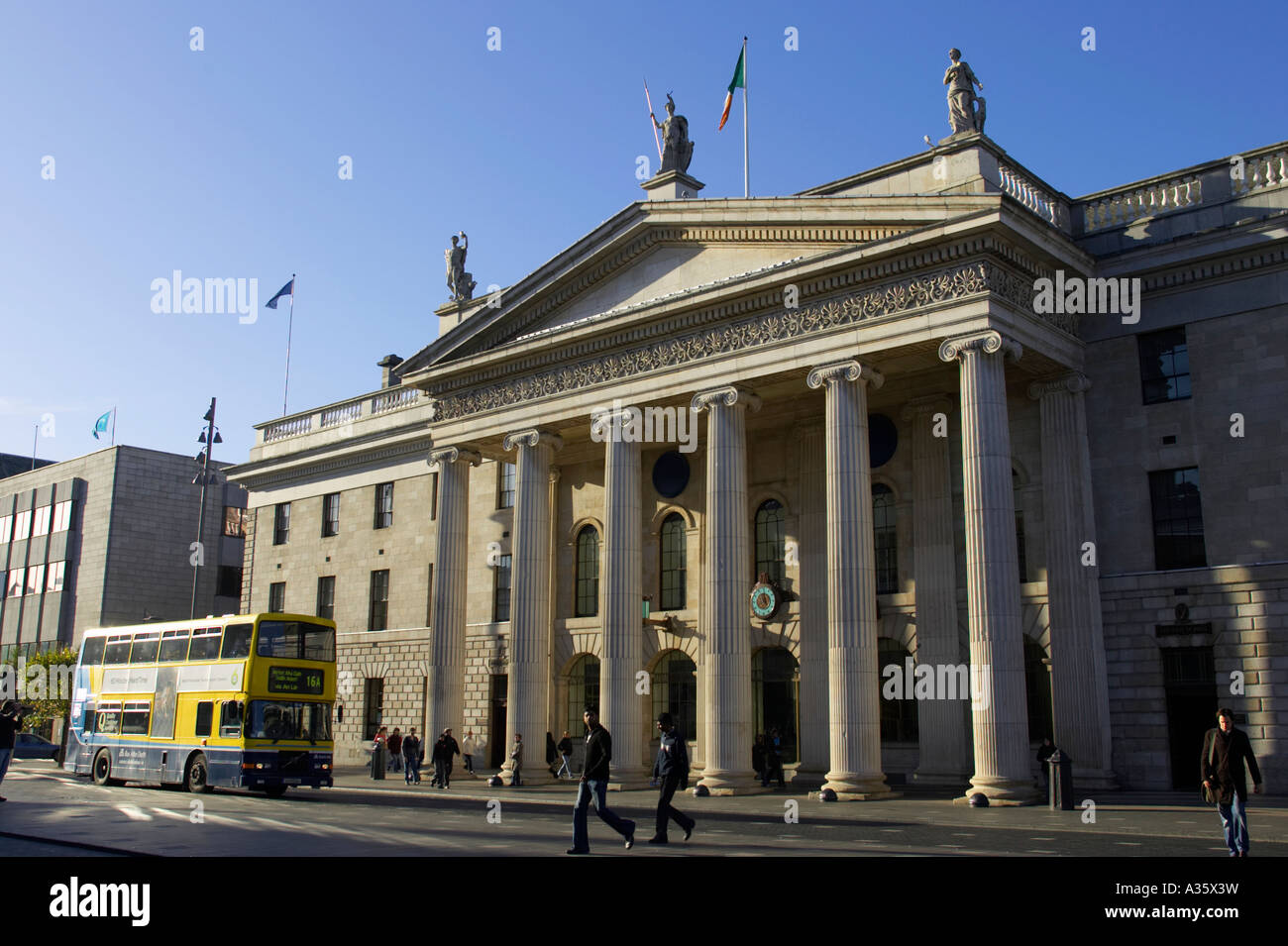 General post office gpo with irish national tricolour flag flying in stock photo royalty free - Irish times office dublin ...