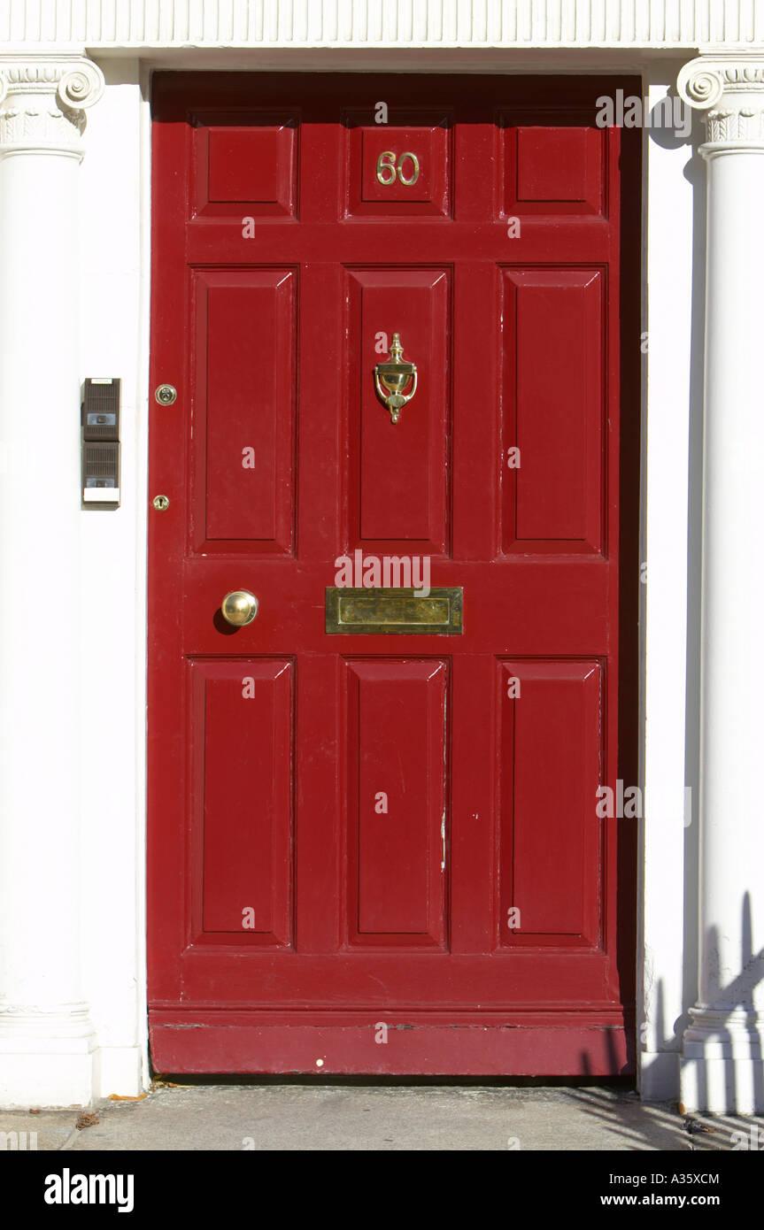 red georgian door with brass letterbox door knob and knocker in dublin & red georgian door with brass letterbox door knob and knocker in ...