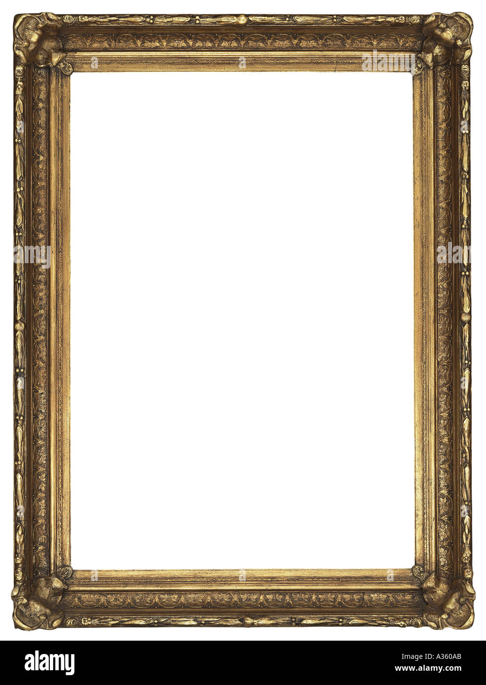 A vertical gold gilded rectangular decorative ornate for How to make vintage frames