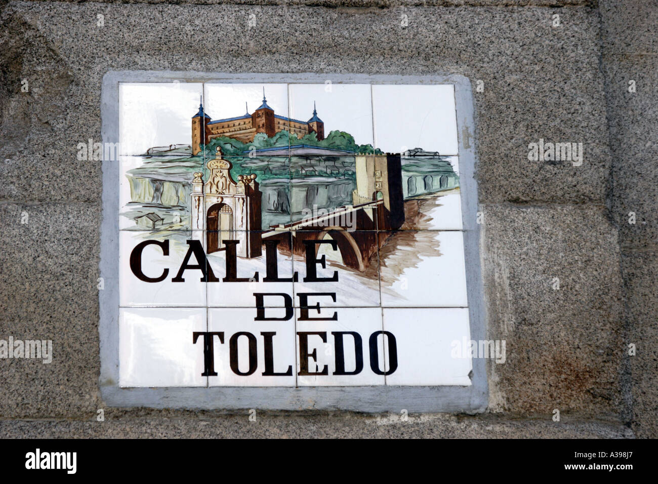 Ceramic tiles form the name sign for calle de toledo madrid stock ceramic tiles form the name sign for calle de toledo madrid dailygadgetfo Gallery