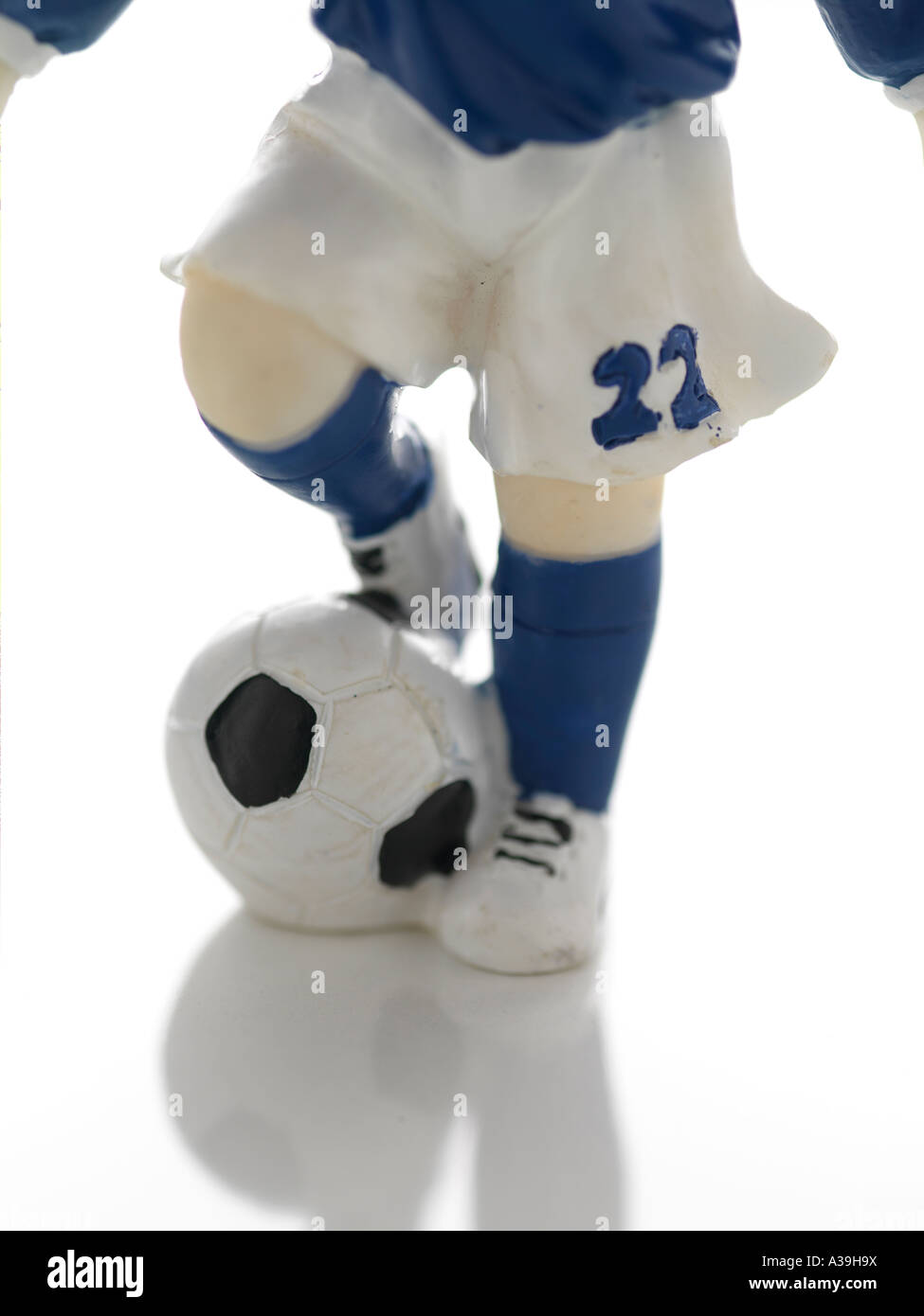 Football player ornament - Stock Photo Ornament Small Statue Soccer Player Ball Leg Game Football Sport Playing Athlete Play National Italy Pull Number