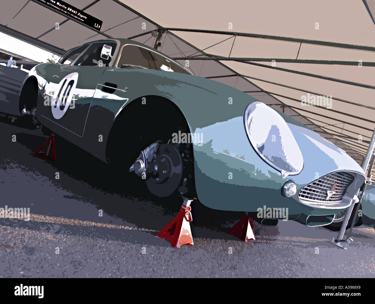 aston martin zagato sports racing car stock photo 6123688 alamy. Black Bedroom Furniture Sets. Home Design Ideas