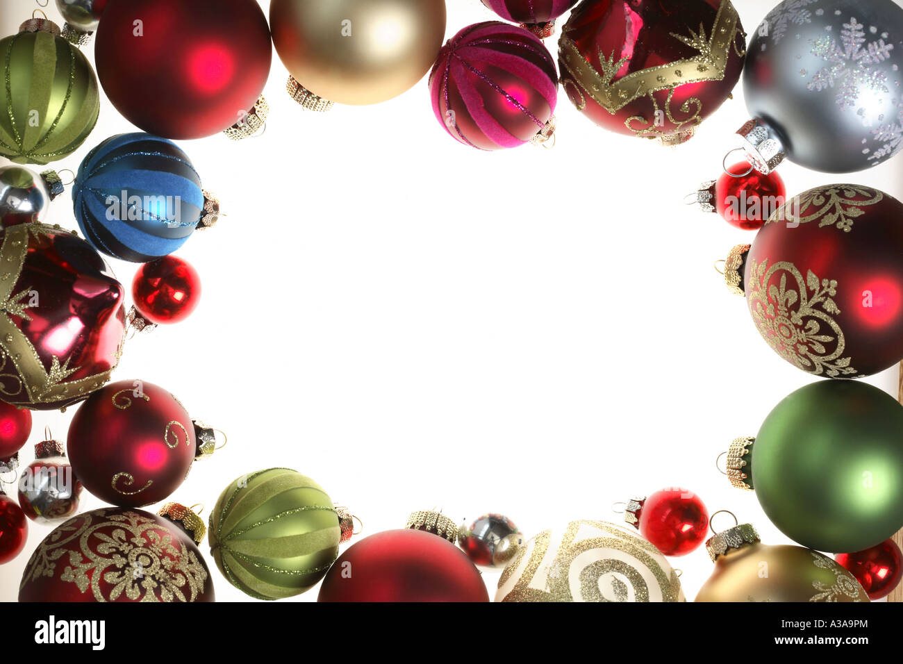 Christmas Ornament Border Stock Photo Royalty Free Image
