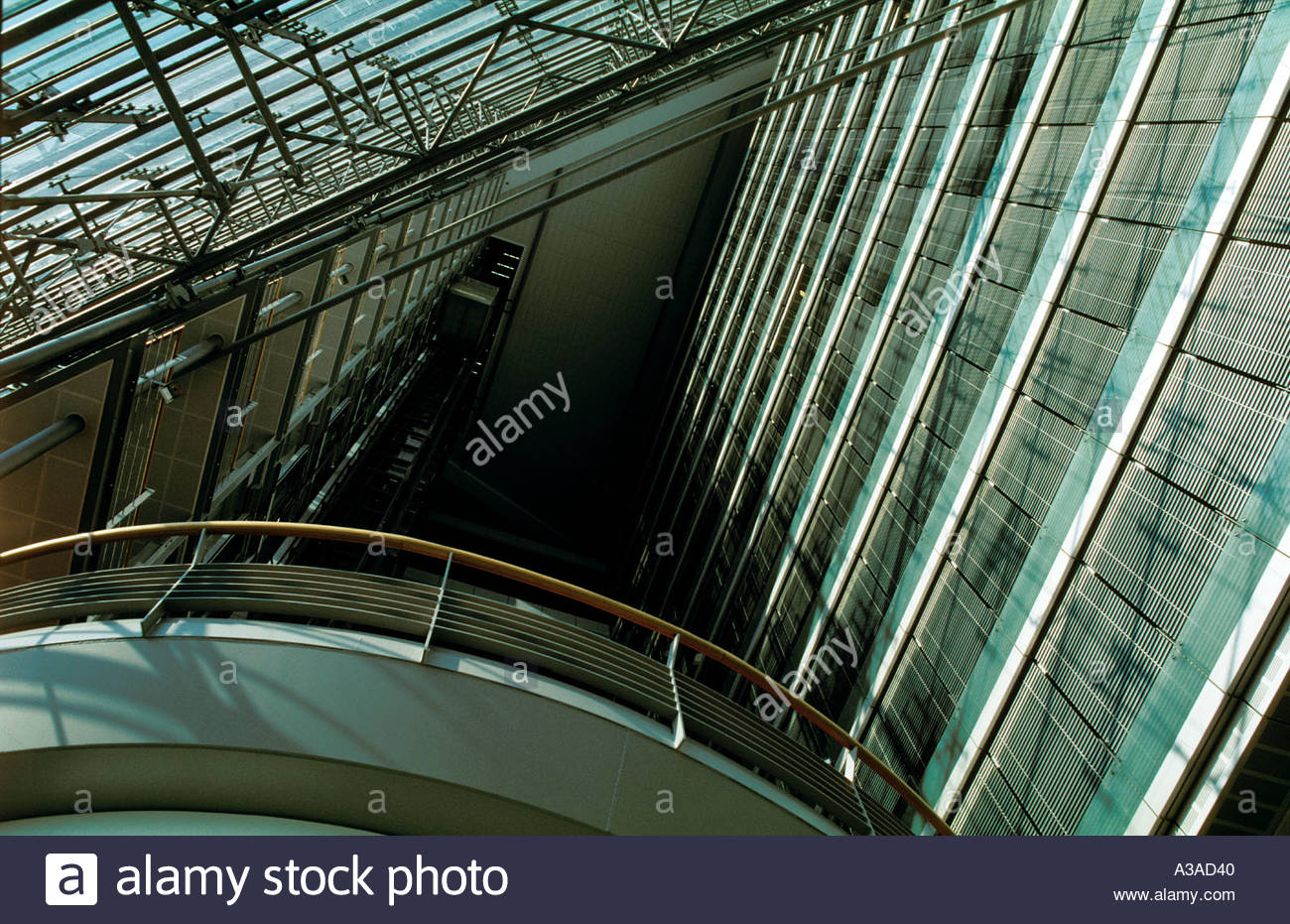 Modern Architecture Europe stadttor city gate arch modern architecture office building lobby