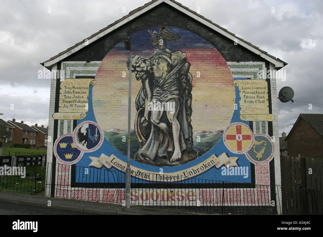 Cuchullain republican wall mural lenadoon west belfast for Mural northern ireland