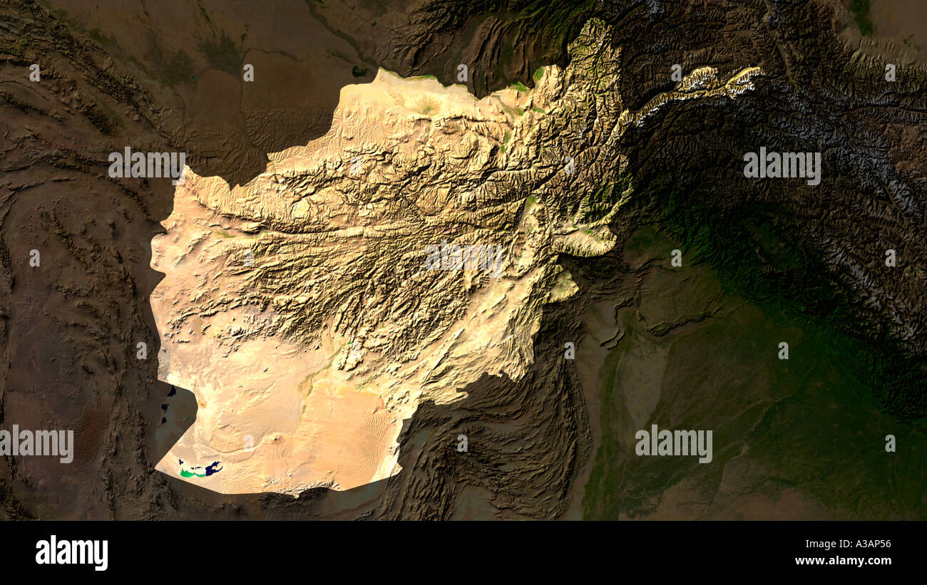 Satellite image of afghanistan highlighted stock photo royalty free satellite image of afghanistan highlighted gumiabroncs Image collections