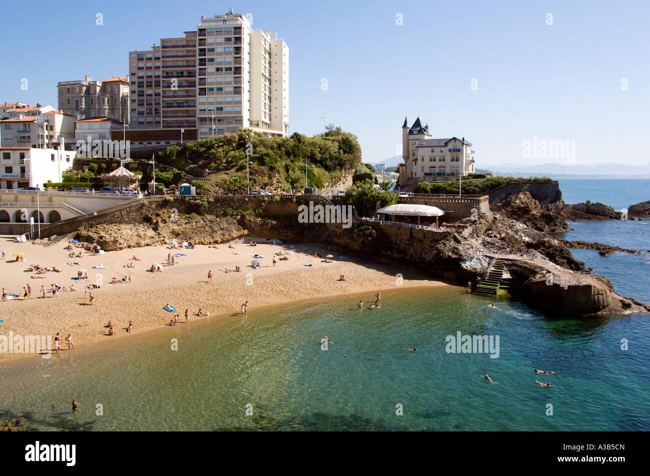 aquitaine pyrenees atlantique biarritz plage de port vieux stock photo royalty free