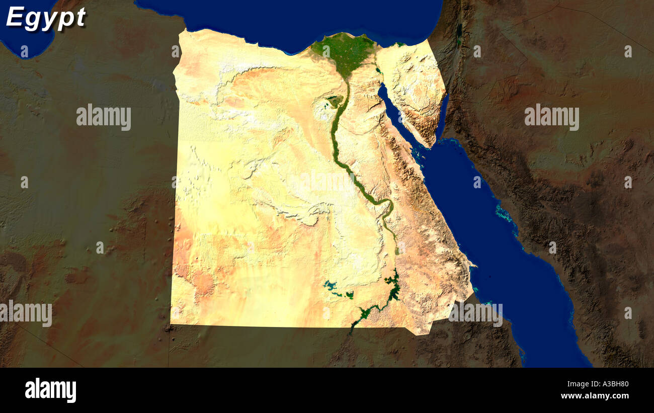 Satellite image of egypt highlighted stock photo royalty free satellite image of egypt highlighted gumiabroncs Image collections