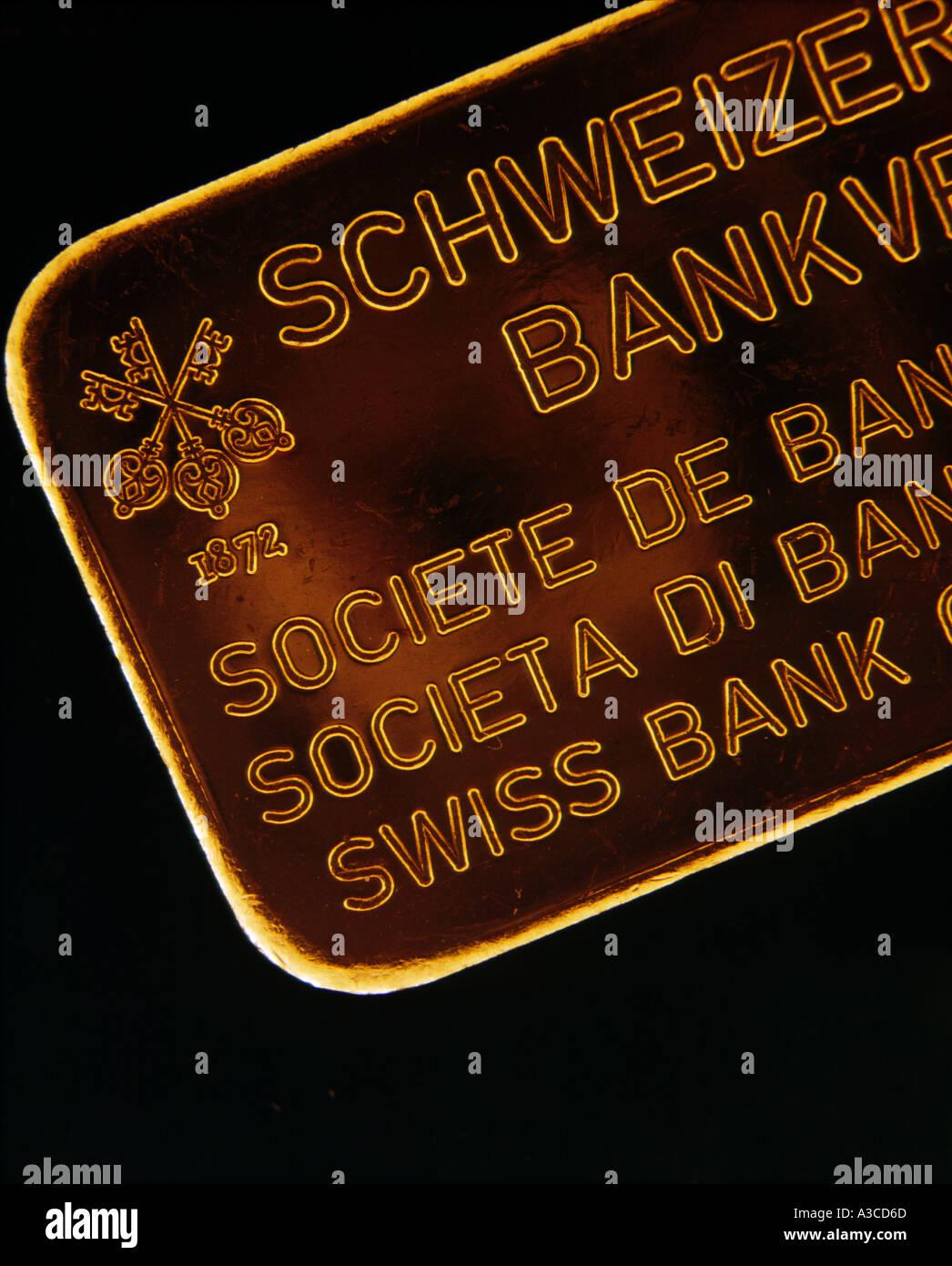 Swiss bank stock photos swiss bank stock images alamy solid gold bar swiss bank corporation stock image buycottarizona Image collections