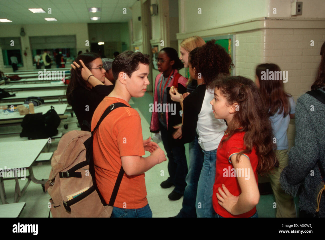 the lunch room is a place where students socialize at school stock photo the lunch room is a place where students socialize at school junior high school new york city
